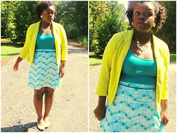 Yakelle D - Tank, Skirt, Lime Blazer - Blessings Yet To Come