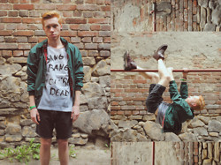 Przemek S. - H&M Jacket, Redesigned Stories Factory T Shirt, Pull & Bear Shorts, H&M Shoes - IT'S JUST A TOUCH