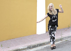 Kimberley Denise - River Island T Shirt, Zara Pants - Just give me one night in Ibiza.