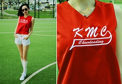 Kary Read♥ - Vintage T Shirt, Vintage Shorts - Cheerleading