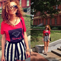 Alina Vay - Diamond Supply Shirt, River Island Shorts - Diamond supply**