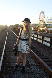 Stephanie - Hand Me Down Dress, H&M Black Hat - Two Summers Ago
