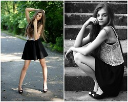 Oliwia W. - Bershka Shoes, Stradivarius Skirt, H&M Top - Lace top
