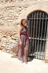 Virginia Yagüe - Adolfo Dominguez Dress, Som Mits Shoes - Long Dress & Pink Adolfo Dominguez