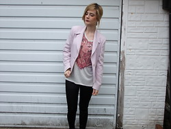 Courtney Melville - New Look Top, Topshop Blazer, Boohoo Disco Pants - Sweet Revenge