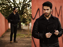 Anderson Gimenez - Diesel Jacket, Michael Kors Sunglesses, Vans Sneakers, Topman Denim, Replay Shirt - All you need is black