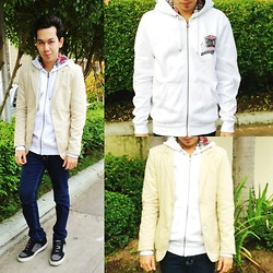 Earth Sagun - Dc Hoodie Jacket, Penshoppe Blazer, F&H Skinny Jeans, Dc Surge - SAD (Seasonal Affective Disorder)