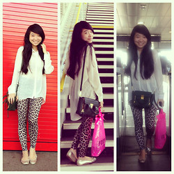 Paris Doll - 3.1 Phillip Lim Pashli Satchel, Dorothy Perkins Tregging, H&M Flats - I'm back again!! xoxo