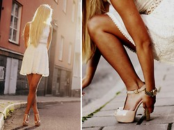 Fanny Staaf - Armani Exchange Dress, Steve Madden Heels - LACE DREAM