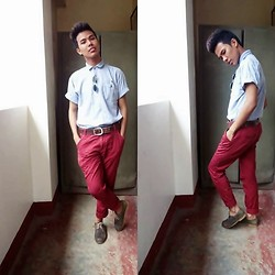 Ed Domingo - Penshoppe Skinny Jeans, Thrifted Polo Shirt - TOO COOL FOR SCHOOL