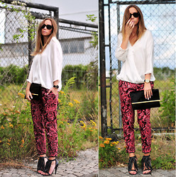 Lisa Olsson - Zara Blouse, Ray Ban Sunglasses, H&M Pants, Jennie Ellen Shoes, Topshop Clutch - RED LIGHTS