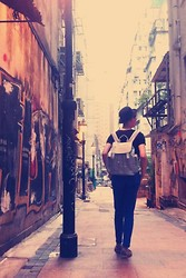 Edward Poon - Bowler Hat, Topshop Backpack, Loafers - You only live Once