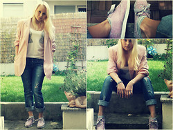Rebecca S - Second Hand Blazer, Asos Shoes - Pink is the new black