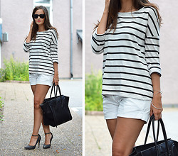Josefine G - Gina Tricot Top - Stripes