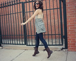 The Rambler - Warby Parker Glasses, The Elle Boutique Lacey Tunic, Asos Jeans, Target Military Boots - Love Will Set You Free