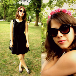 Juliana Clara - Forever 21 Flowers, Forever 21 Sunglasses, Melissa Shoes, Forever 21 Dress - Basic with flowers