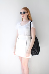 Eleanor J - Cheap Monday Sunglasses, Monki Bag, Topshop Skirt - This Life.
