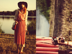 Kasia Cieślik - Stradivarius Crochet Sweater, House Hat, Vintage Bag, Oysho Sandals, Not A Virgin Shop Dress - This World Is Only Gonna Break Your Heart