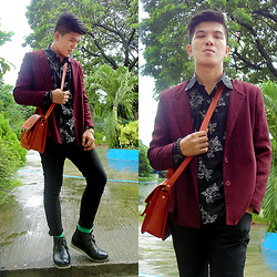 Charles G. - Marikina Brown Satchel, Zara Skinny, Milanos Black - It Will Rain