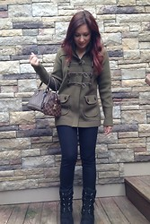 Monika S - Burberry Sweater/Jacket, Louis Vuitton Bag, Ugg Boots - Fall is coming!