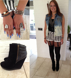 Amy Huisman - Primark Tights - DIY vest