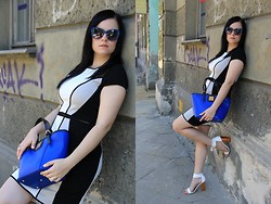 Magda M. - River Island Dress, Simple Cp Bag, Centro Glasses, Reserved Heels - Girls best