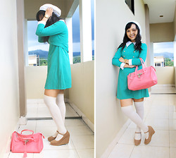 Ollyvia Laura - L Nino Pastel Wedges, Esprit Knee Socks, Casio The Watch - THAT WINTER THE WINDS BLOW