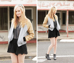 Izzy Bea - Cameo The Label Bomber Jacket, Sabo Skirt Lace Shorts - GENERAL STORE