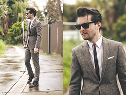 Ben Galbraith - Asos Suit, Jack London Tie - Trees