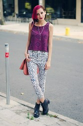 Evilish Queeny - Second Hand Cropped Top, Egoist Leopard High Waist Jeans - Leo