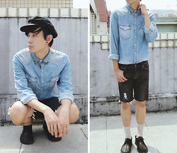Zack T - New York Hat, Tally And Hoe Collar Tips, H&M Denim Shirt, Topman Socks, Clarks Leather Shoes - Let's Talk About Love