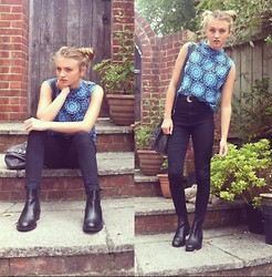 Chloe H - Motel Top, Topshop Boots - Dearest Blue