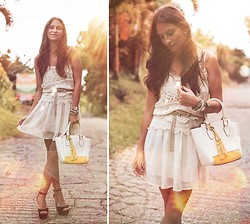 Melanie Winter - Sheinside Dress, Chic Wish Bag - SUN FLARE