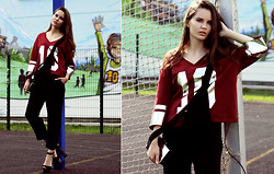 Anastasia Shepelevich - Asos Top, Zara Playsuit, Zara Bag - Player of life