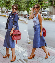 Elena Gilka - Unknown Brand Jacket, Ecugo Vest, Vjstyle Bag, Vancl Shoes - Vintage denim!
