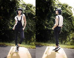 Masha Sardari - Asos Jumpsuit, Converse Wedge Sneakers, Urban Outfitters Loose Blouse - Rolling with the stones