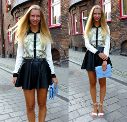 Ania Zarzycka - Choies Shirt, Udobuy Skirt, Persun Persunmall Bag, Choies Sandals - Back in time