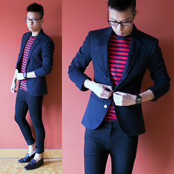 Billy Ho - Zara Blazer, Gap T Shirt - Countdown to Paris (More on theboywithglasses.com)