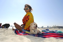 Nicole G - Vintage Floral Top - Dog Beach