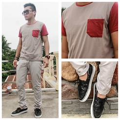 Ged Gumatay - Oxygen Chinos, Folded&Hung Top, Vans Boat Shoes, Regatta Sunnies - Lazy