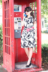 Catarine Martins - Cortefiel Telephone Dress, Zara Lace Heels - Call Me!