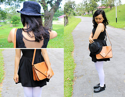 Ollyvia Laura - Gosh Creepers, Avenue Lbd, Nylon White Tigths, J.Rep Leather Bag - LET ME GIVE YOU HEARTBREAK