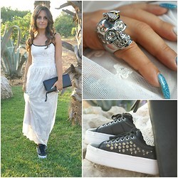 Annalisa Masella (www.insideme.it) - So Allure, Jeffrey Campbell, L'autre Chose, Alexander Mcqueen - So Allure white dress & JC Zomg shoes