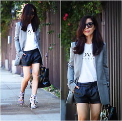 Hallie S. - Alexander Wang Blazer, Nicholas Kirkwood Sandals - Lace Up Sandals