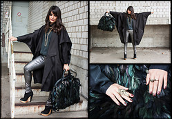 Fashionambit - Aqua Coat, Cos Shirt, Zara Trousers, Urban Outfitters Shoes, River Island Bag, Cos Necklace, H&M Ring - Newcomer #NYFWCONTEST @lookbookdotnu and @dreamdowntown