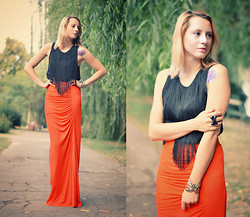 Miha Teicu - H&M Fringetop, Mango Maxi Skirt - That's the long and that's the short of it