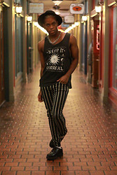 Lateef Abdullah - Urban Outfitters Keep It Surreal, Forever 21 Stripped Pants, Tuks Creepers - A Haunting In St.Augustine