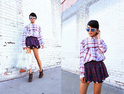 Olivia Lopez - Westward Leaning Sunglasses - Mixed Plaids