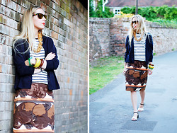 Daniella Robins - Marni Skirt - Stripes & Shells