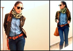 Rafaela Bicas - Young Collection Coat, Riachuelo Jeans Shirt, Ray Ban Clubmaster, Brown Boots, M. Officer Jeans - Cold day!